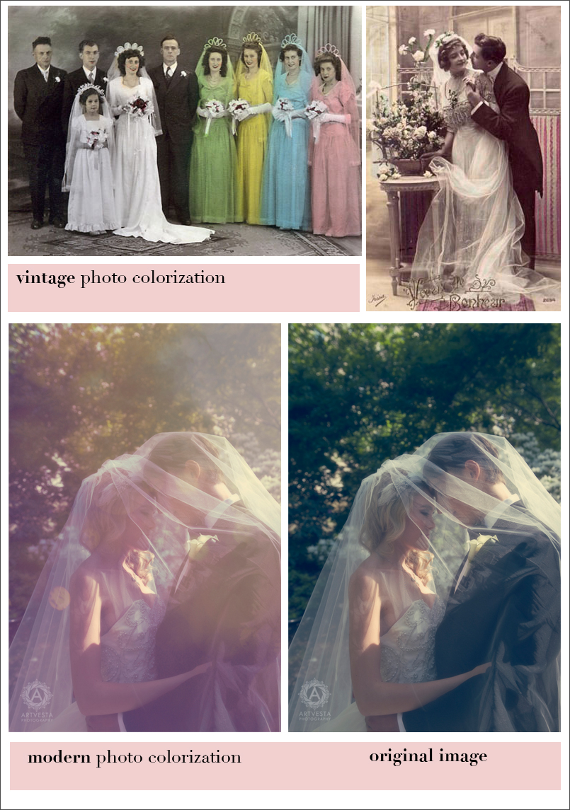 vintage vs modern photo colorization