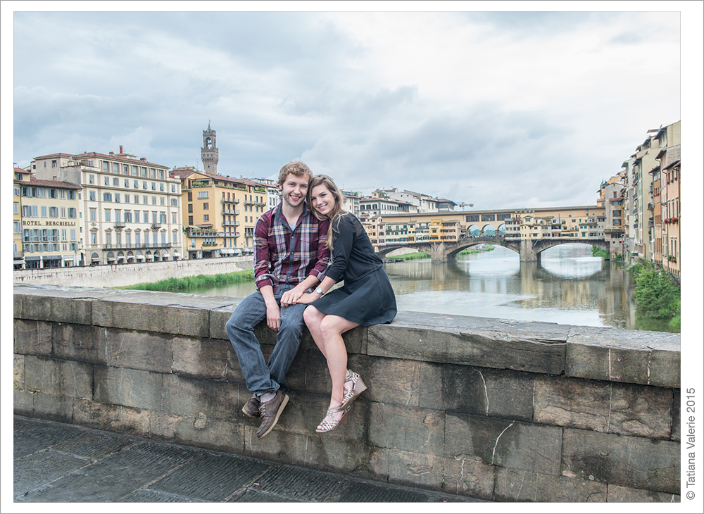 Engagement photo session in Florence, Italy