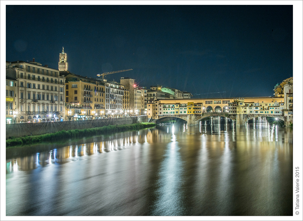 Florence, Italy. Night panorama