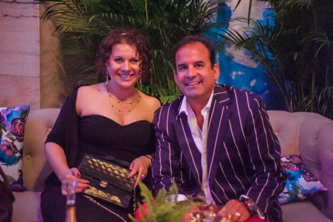 Tatiana Valerie and DJ Johnny Stuart at The Knot Gala 2015