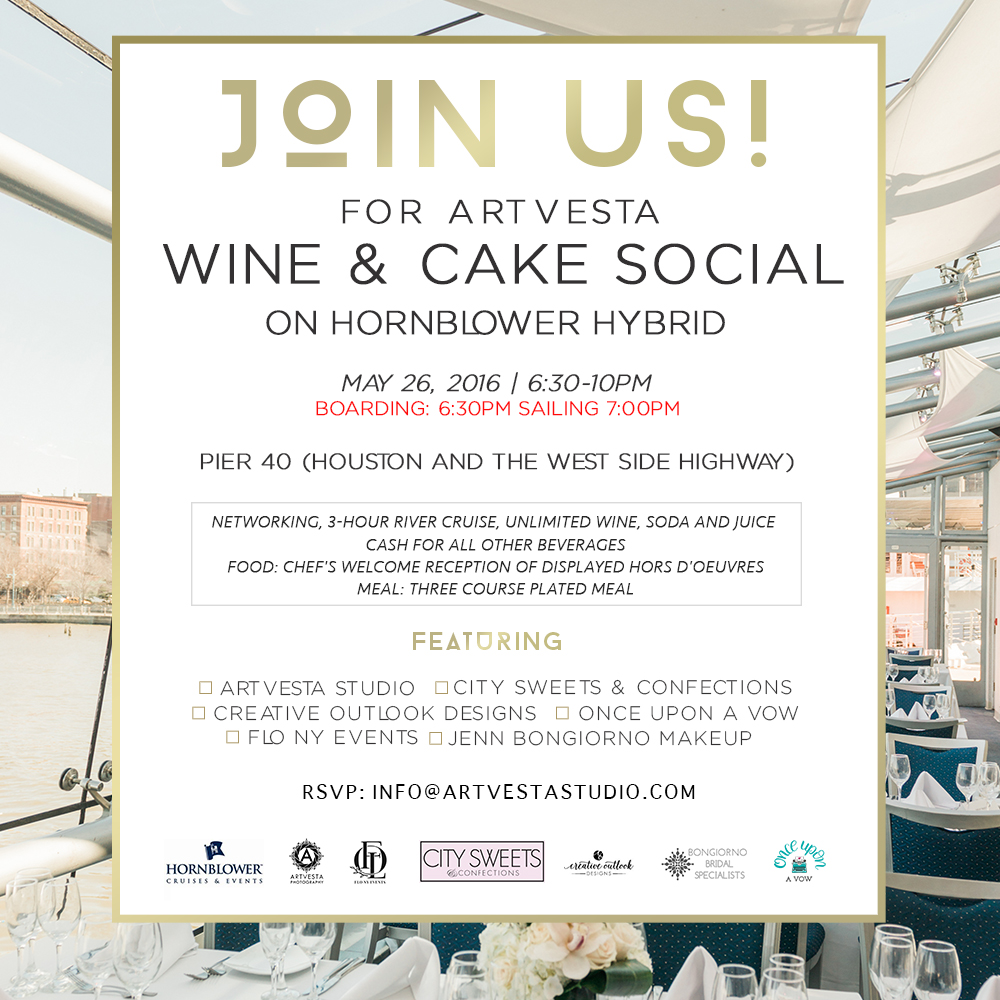 Artvesta Wine & Cake Social Invitation 05/26/2016