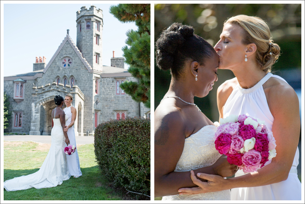 Liz & Keisha's romantic wedding at Whitby Castle, Rye, NY