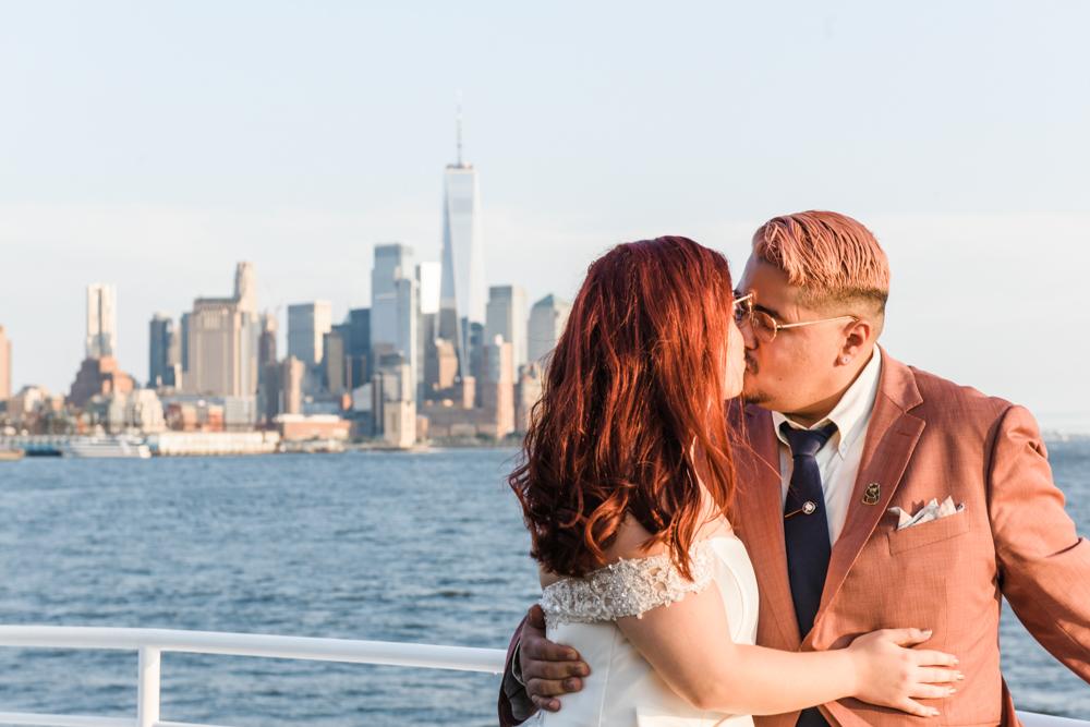 COVID wedding in NYC Aqua Azul Yacht