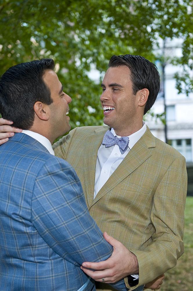 Same sex wedding at Robert restaurant in New York City